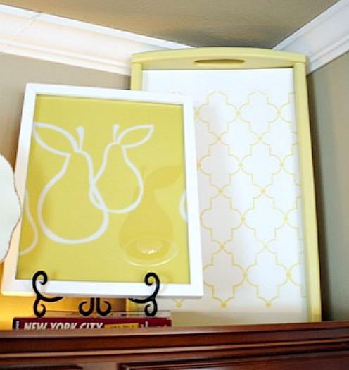 framed placemat art via Thrifty Decor Chick