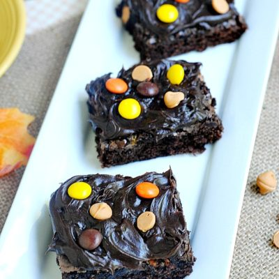Homemade Reese's Pieces Brownies