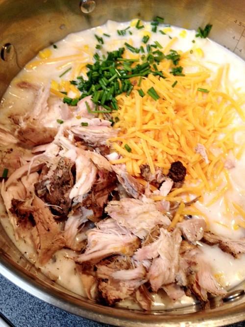 ingredients for chicken potato chowder