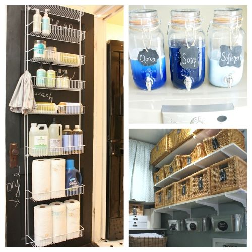 11 Laundry Room Organizing Ideas- If you're tired of your disorganized laundry room, then you need to check out these 11 brilliant laundry room organizing ideas for inspiration! There are so many easy and frugal ways to get your laundry room organized! | #laundryRoom #organization #organizingTips #laundry #ACultivatedNest