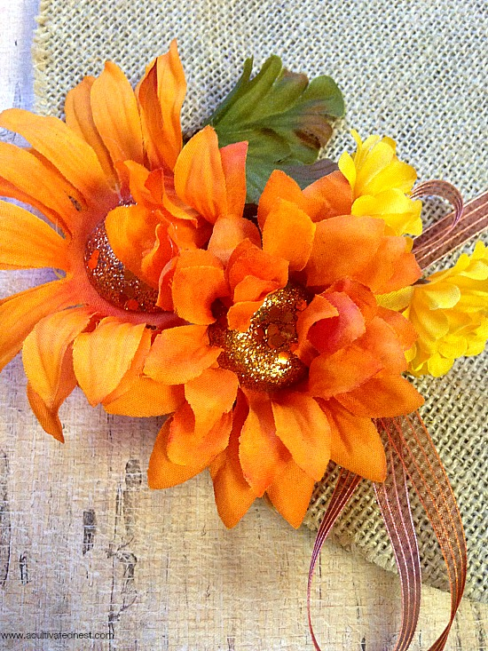 materials for frugal fall wreath