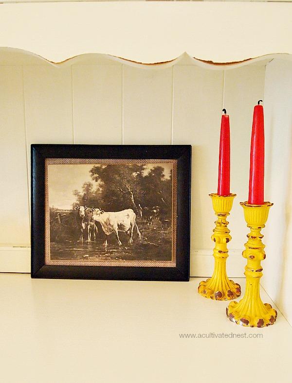 vintage cow print