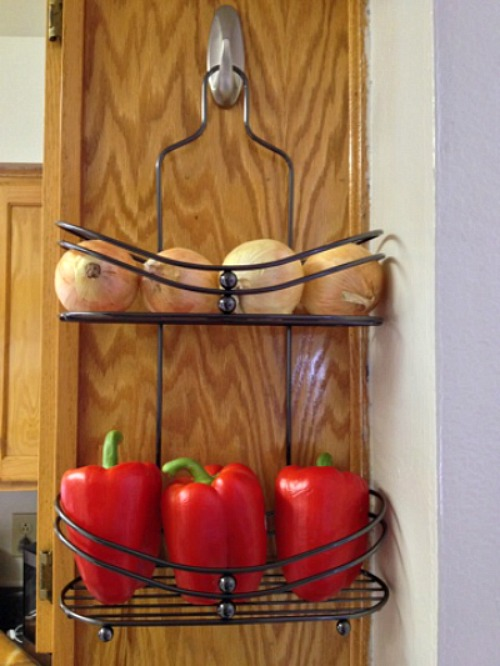 10 Ideas For Organizing A Small Kitchen- Shower caddy produce rack. | how to organize a small space, organize an apartment, organize a tiny kitchen, #homeOrganization #organizing #kitchen #organization #organizingTips #organize