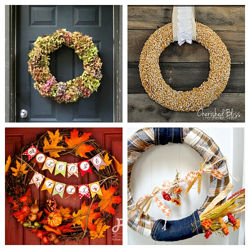 25 DIY Fall Wreath Ideas- A fun and inexpensive way to update your home's decor for fall is with a homemade wreath! For inspiration, check out these 25 festive DIY fall wreaths! | how to make a wreath, fall-themed wreath, frugal fall wreath, inexpensive fall wreath, DIY fall home decor, #DIY #wreath #fall #decor #diyProject #autumn #decorating #craft #ACultivatedNest