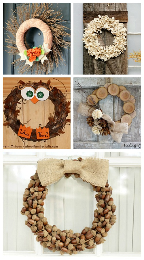 25 Frugal DIY Wreaths to Make- A fun and inexpensive way to update your home's decor for fall is with a homemade wreath! For inspiration, check out these 25 festive DIY fall wreaths! | how to make a wreath, fall-themed wreath, frugal fall wreath, inexpensive fall wreath, DIY fall home decor, #DIY #wreath #fall #decor #diyProject #autumn #decorating #craft #ACultivatedNest