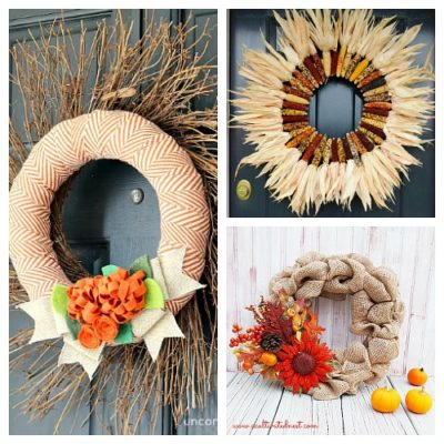 25 Festive DIY Fall Wreaths!