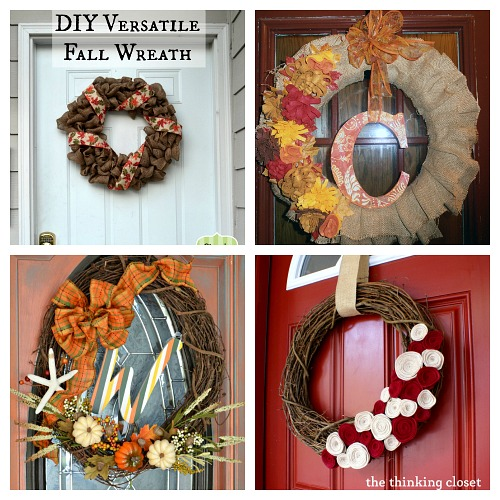 25 Fall Wreath DIY Projects- A fun and inexpensive way to update your home's decor for fall is with a homemade wreath! For inspiration, check out these 25 festive DIY fall wreaths! | how to make a wreath, fall-themed wreath, frugal fall wreath, inexpensive fall wreath, DIY fall home decor, #DIY #wreath #fall #decor #diyProject #autumn #decorating #craft #ACultivatedNest