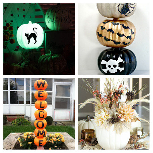 16 Dollar Store Pumpkin Fall Crafts- Foam pumpkins from the dollar store are the perfect accessory to makeover on a budget! Use them in these fall dollar store pumpkin crafts!   #crafts #diyProjects #fallDIY #pumpkinDIY #ACultivatedNest