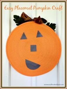 Cute DIY Fall Placemat Pumpkin Craft