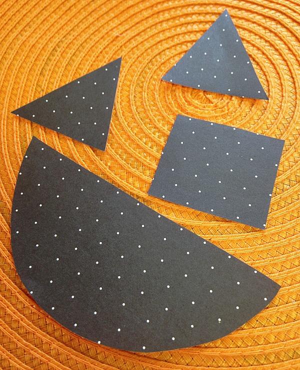 shapes cut out for placemat pumpkin