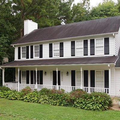 Farmhouse style home exterior
