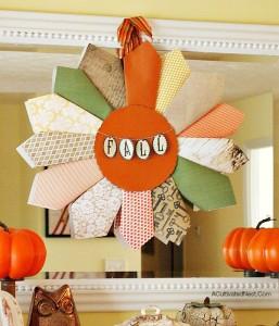 Scrapbook Paper Fall Wreath & Moving Update