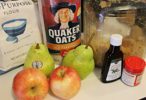pear-apple-crisp- mason-jar