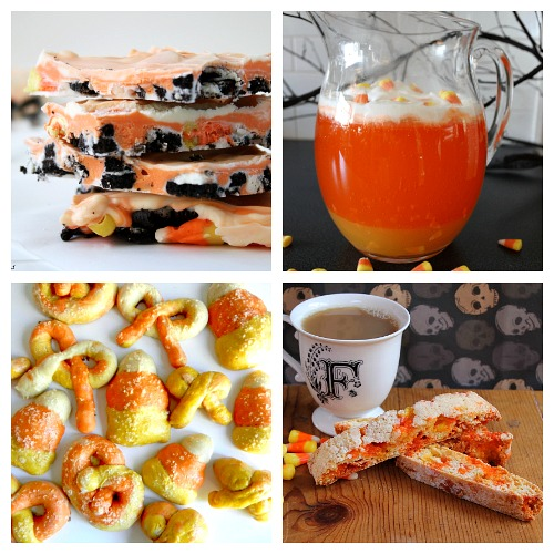 25 Candy Corn Dessert Recipes- If you love candy corn, then you've got to check out these 25 creative candy corn recipes! These are wonderful fall or Halloween dessert ideas! And they're a great way to use up leftover Halloween candy! | candy corn desserts, candy corn themed food, #dessert #recipe #candyCorn #Halloween #fall #food #cookies #cake #ACultivatedNest