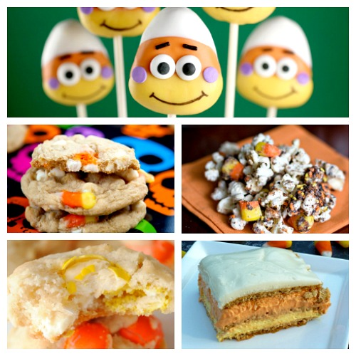 Fun Halloween Dessert Recipes Using Candy Corn- If you love candy corn, then you've got to check out these 25 creative candy corn recipes! These are wonderful fall or Halloween dessert ideas! And they're a great way to use up leftover Halloween candy! | candy corn desserts, candy corn themed food, #dessert #recipe #candyCorn #Halloween #fall #food #cookies #cake #ACultivatedNest