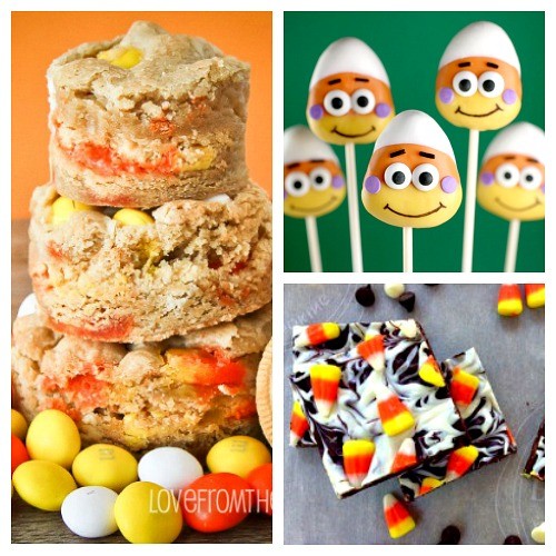25 Creative Candy Corn Recipes- If you love candy corn, then you've got to check out these 25 creative candy corn recipes! These are wonderful fall or Halloween dessert ideas! And they're a great way to use up leftover Halloween candy! | candy corn desserts, candy corn themed food, #dessert #recipe #candyCorn #Halloween #fall #food #cookies #cake #ACultivatedNest