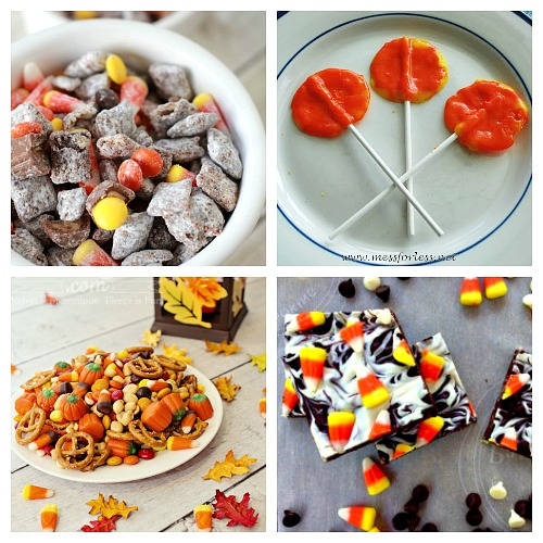 Candy Corn Halloween Dessert Recipes- If you love candy corn, then you've got to check out these 25 creative candy corn recipes! These are wonderful fall or Halloween dessert ideas! And they're a great way to use up leftover Halloween candy! | candy corn desserts, candy corn themed food, #dessert #recipe #candyCorn #Halloween #fall #food #cookies #cake #ACultivatedNest