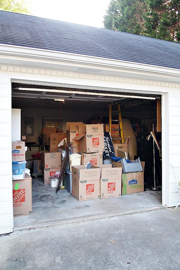 garage full of boxes