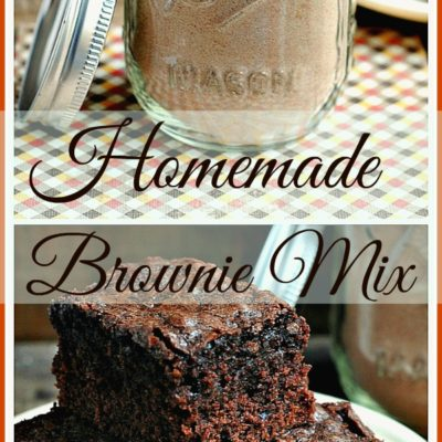 Homemade Brownie Mix: Never buy boxed brownie mix again! So simple, so easy. Not just frugal but cuts out the unknown ingredients.