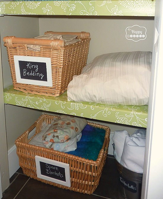 Great linen closet organization ideas like this one from The Happy Housie