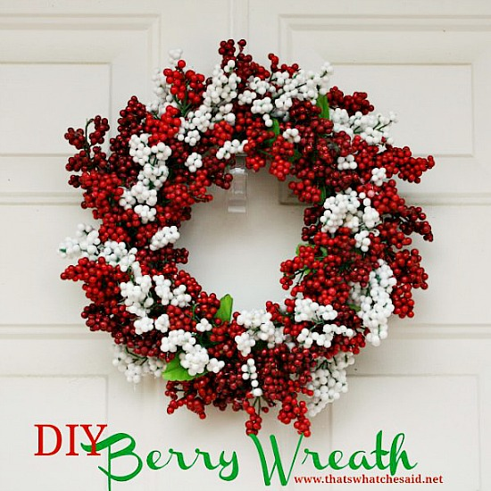 DIY Dollar Store Berry Wreath | 10 Amazing Dollar Store Holiday Decorating Ideas