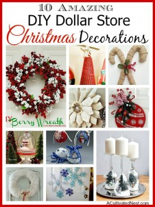 10 Amazing DIY Dollar Store Holiday Decorations