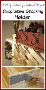 DIY Saturday: Decorative Christmas Stocking Holder
