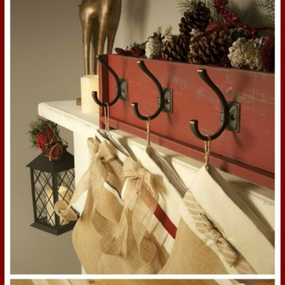 DIY Saturday Featured Project | Decorative Stocking Holder from a planter box!