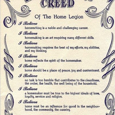 Betty Crocker's Homemakers Creed