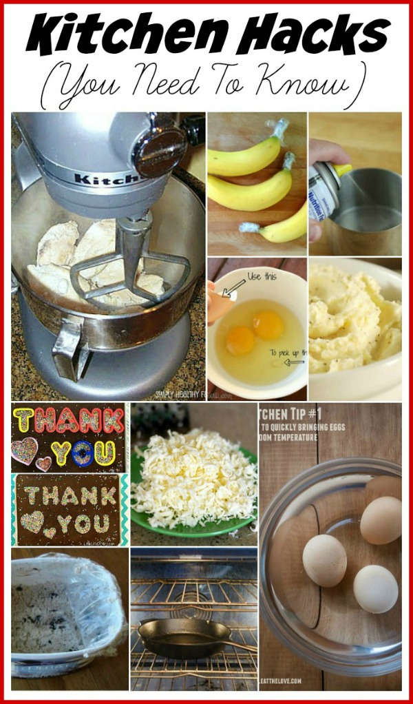 10 handy kitchen tips and tricks to help you in the kitchen! Love the butter one!