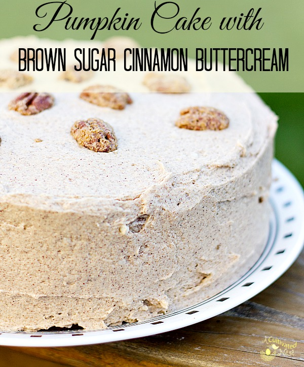 Spiced Pumpkin Cake And Cinnamon Buttercream Frosting Recipe ...