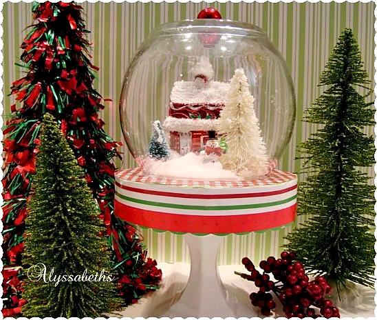 cute Christmas scene globe