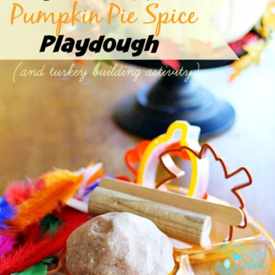 Homemade Pumpkin Pie Playdough & Turkey Building Activity