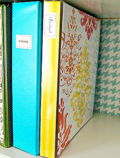 Organizing with binders! A home management binder stores everything you need for managing your home in one convenient place. Here's how to use one to stay organized