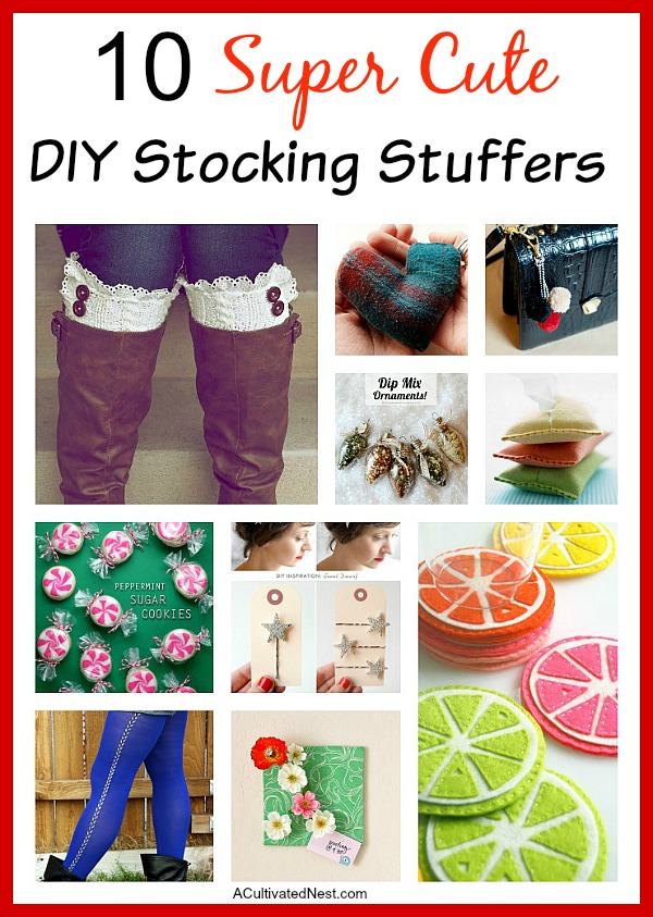 10 Super Cute DIY Stocking Stuffer Ideas- If you want to make some stocking stuffers this year, you'll like these 10 super cute ideas for DIY stocking stuffers! | craft, Christmas DIY, homemade, DIY gift, DIY Christmas present