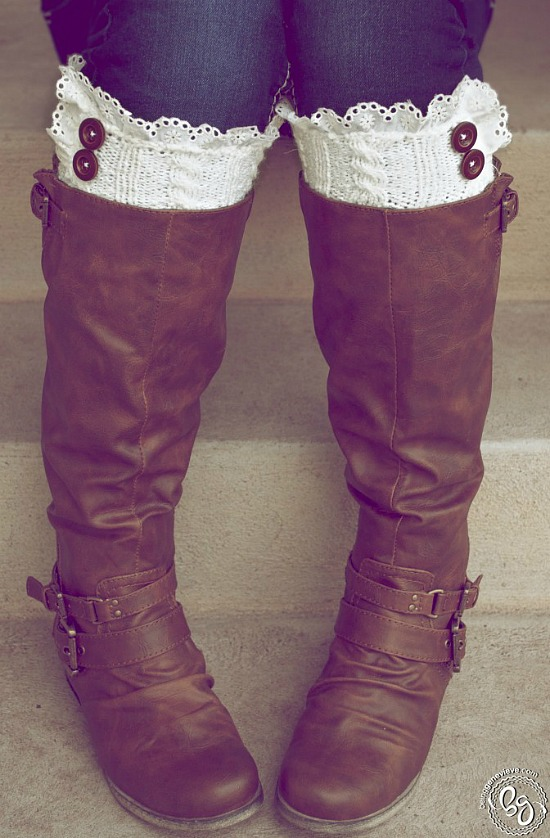 10 DIY Stocking Stuffer Ideas - DIY boot cuffs