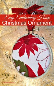 Sweet & Simple Project: Embroidery Hoop Christmas Ornament