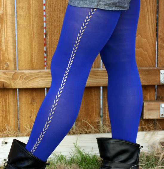 DIY patterned tights - Super cute DIY Stocking Stuffers