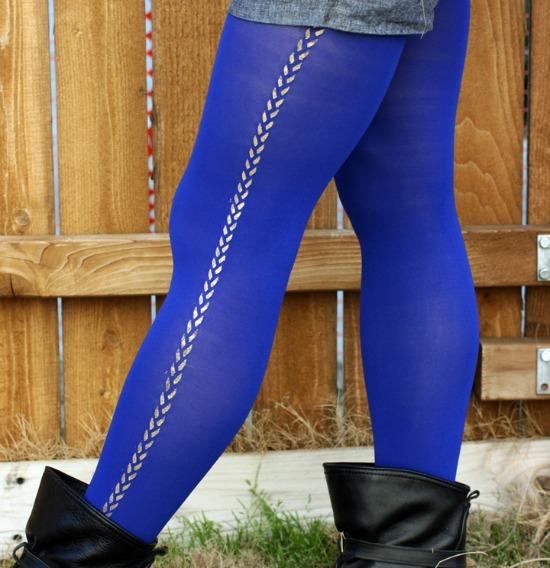 DIY patterned tights - Super cute DIY Stocking Stuffers