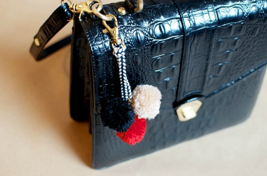 10 Super Cute DIY Stocking Stuffers - pom pom bag charm