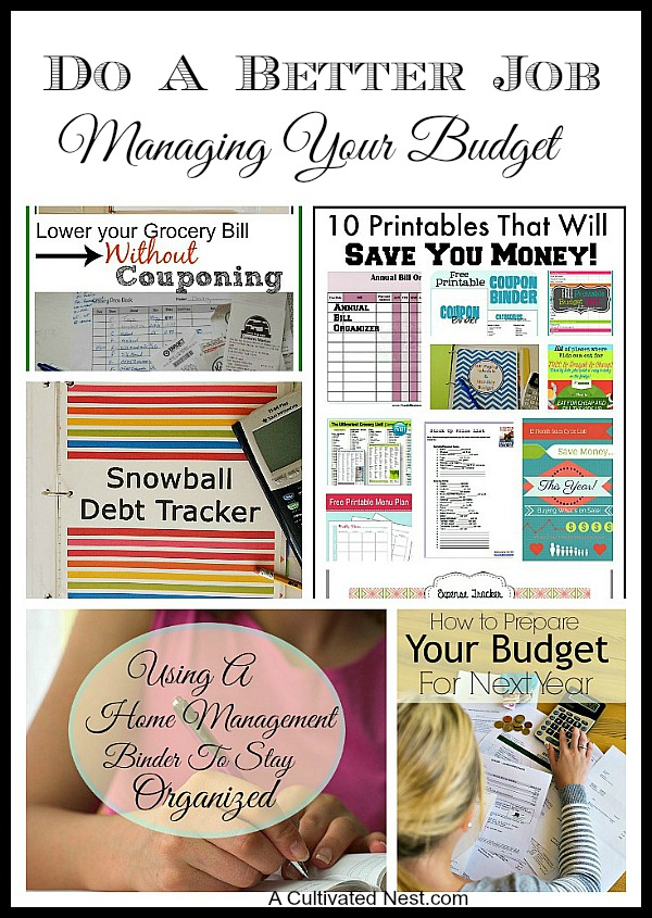 Some strategies you can do to start better managing your money and improve your finances. Frugal Living Tips from A Cultivated Nest