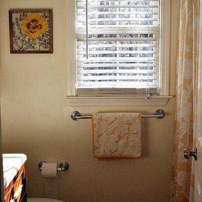 Our Sunny Yellow Hall Bathroom