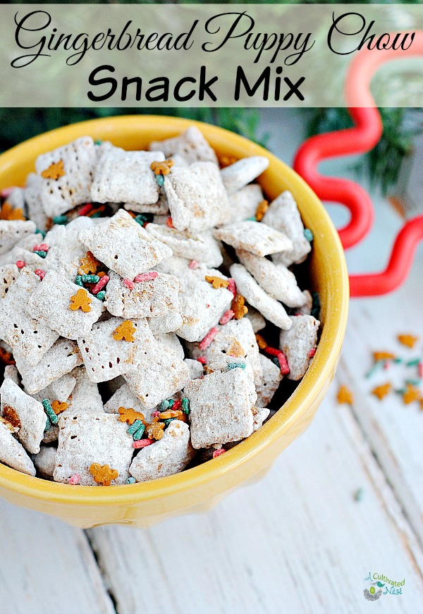 delicious gingerbread puppy chow snack mix this recipe is perfect for christmas since its a - Christmas Puppy Chow