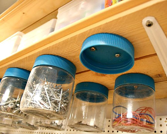 14 Home Organizing Ideas Using Jars- Organizing with jars is an easy way to get your home organized on a budget! Check out all the clever storage solutions you can create with jars! | #organizing #homeOrganization #organization #storageSolutions #ACultivatedNest