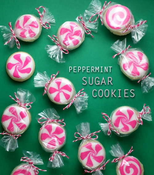 10 Super Cute Stocking Stuffers - peppermint candy sugar cookies