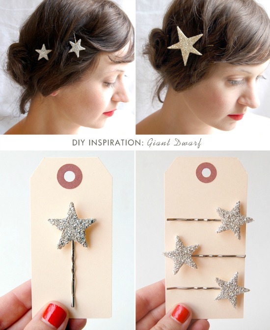10 Super Cute DIY Stocking Stuffers like these twinkle star hair pins