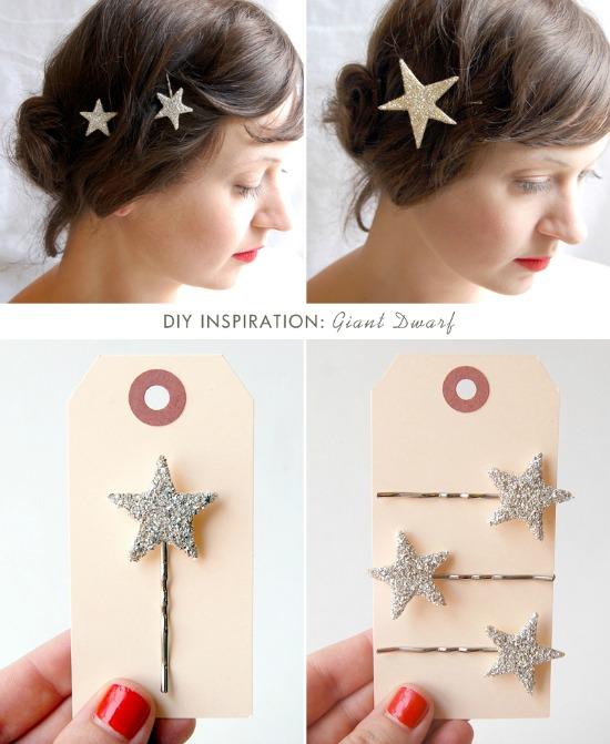 10 Super Cute DIY Stocking Stuffers like these twinkle star hair pins
