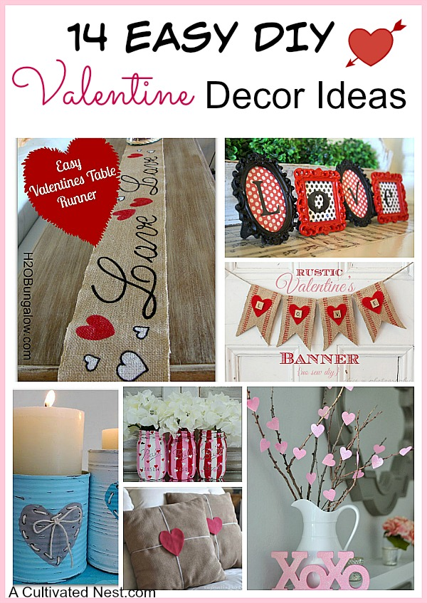 14 easy diy valentine 39 s day decoration ideas for Valentine decorations to make at home