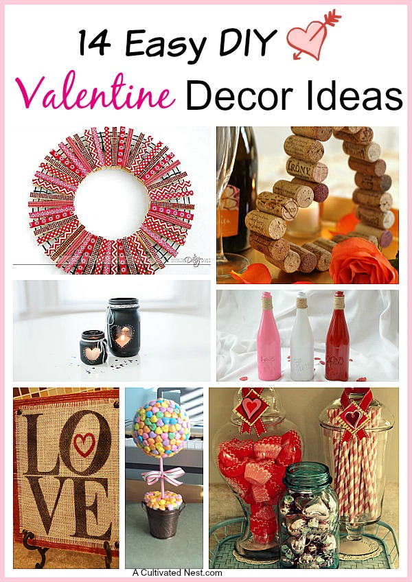14 easy diy valentine 39 s day decoration ideas. Black Bedroom Furniture Sets. Home Design Ideas