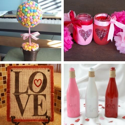 14 Easy Valentine Decor Crafts- If you want to decorate your home for Valentine's Day on a budget, you'll love these14 easy DIY Valentine's Day decoration ideas! | #ValentinesDay #ValentinesDecor #DIY #ValentinesCrafts #ACultivatedNest